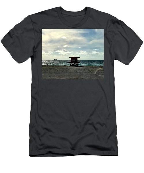 Sitting On The Beach Men's T-Shirt (Athletic Fit)