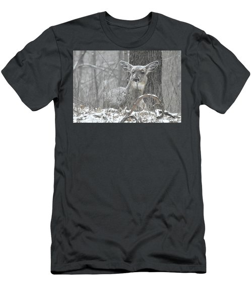 Men's T-Shirt (Slim Fit) featuring the photograph Sitting Out The Storm by Michael Peychich