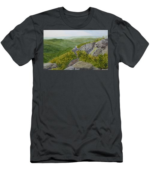 Men's T-Shirt (Athletic Fit) featuring the painting Sitting Pretty  by Joel Deutsch