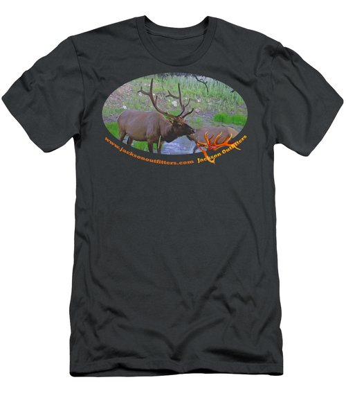 Six Point Bull Elk In Colorado Men's T-Shirt (Athletic Fit)