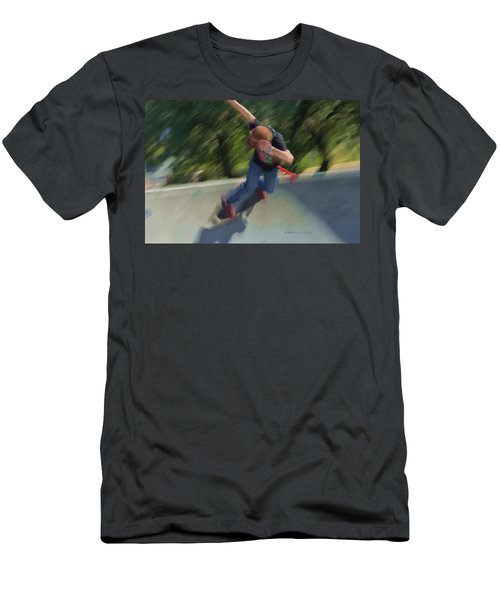 Skateboard Action Men's T-Shirt (Athletic Fit)