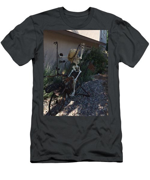 Skeleton's Bike Ride  Men's T-Shirt (Slim Fit) by Cindy Croal