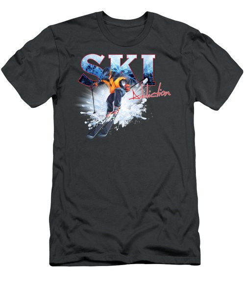 Ski Addiction Men's T-Shirt (Athletic Fit)