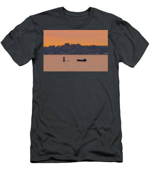 Skiff Anchored - Dinghy Ride Back To Shore Men's T-Shirt (Athletic Fit)