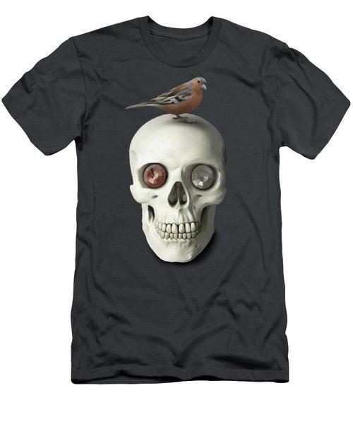 Skull And Bird Men's T-Shirt (Slim Fit) by Ivana Westin