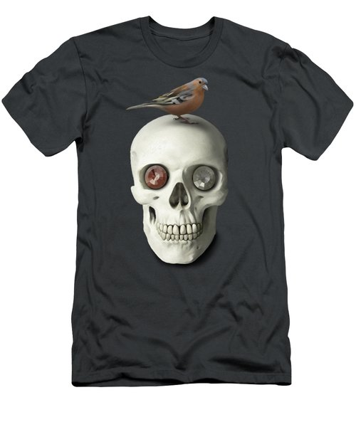 Skull And Bird Men's T-Shirt (Athletic Fit)