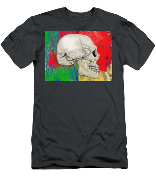 Skull In Primary Without Shape Men's T-Shirt (Athletic Fit)