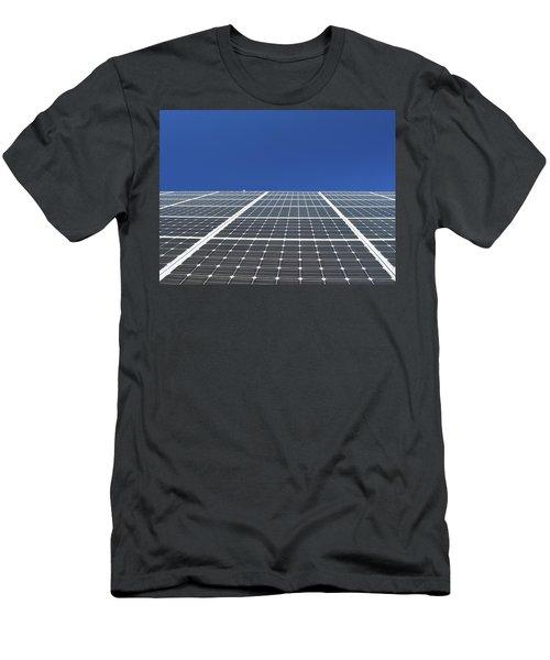 Sky Grid  Men's T-Shirt (Slim Fit) by Lyle Crump