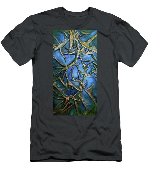 Sky Through The Trees Men's T-Shirt (Slim Fit) by Angela Stout