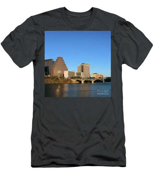 Skyline Atx Men's T-Shirt (Slim Fit) by Sebastian Mathews Szewczyk