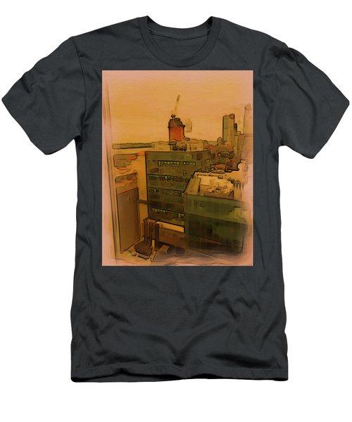 Skyline Crain Men's T-Shirt (Athletic Fit)