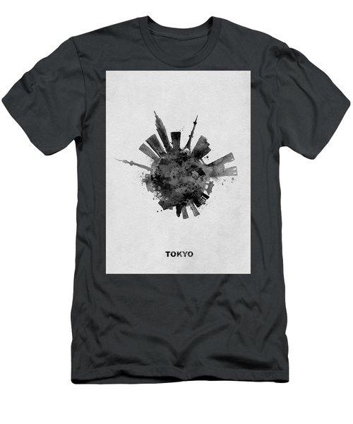 Black Skyround / Skyline Art Of Tokyo, Japan Men's T-Shirt (Athletic Fit)
