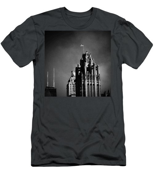 Skyscrapers Then And Now Men's T-Shirt (Slim Fit) by Frank J Casella