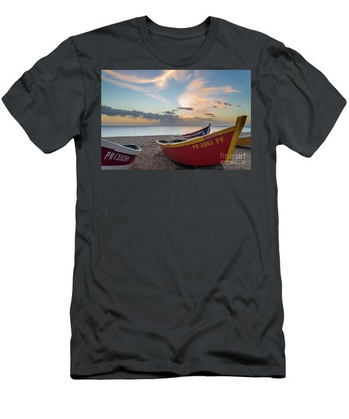 Sleeping Boats On The Beach Men's T-Shirt (Athletic Fit)