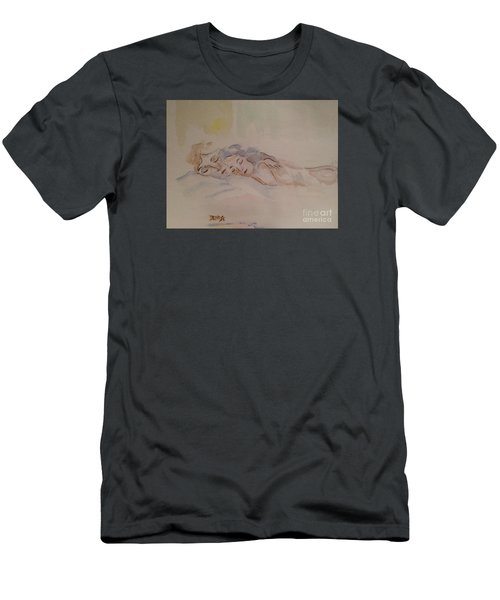 Men's T-Shirt (Slim Fit) featuring the painting Sleepy Heads by Denise Tomasura