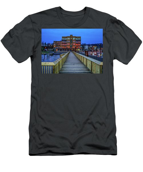 Sleepy Hollow Pier Men's T-Shirt (Athletic Fit)