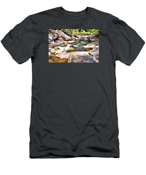 Sliding Rock Falls Men's T-Shirt (Athletic Fit)