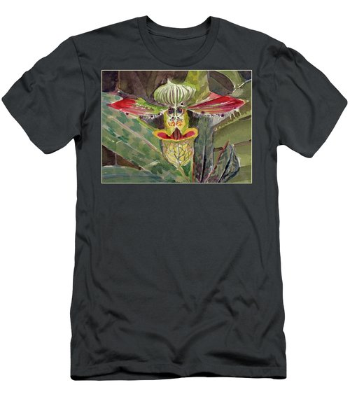 Men's T-Shirt (Slim Fit) featuring the painting Slipper Foot Aladdin by Mindy Newman