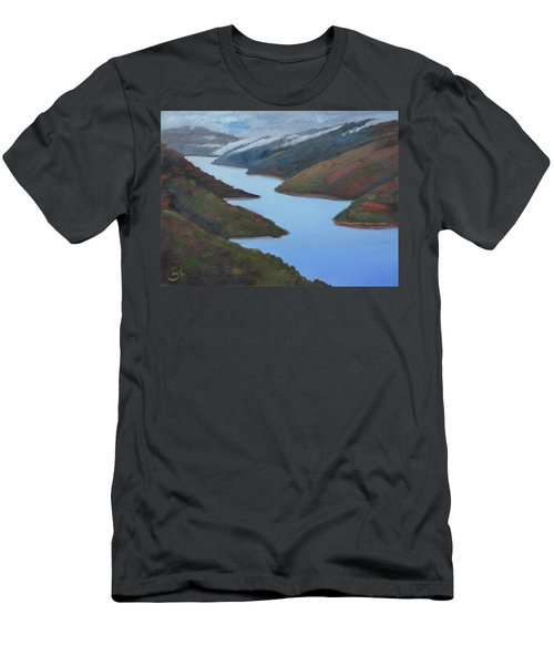 Sliver Of Crystal Springs Men's T-Shirt (Slim Fit) by Gary Coleman