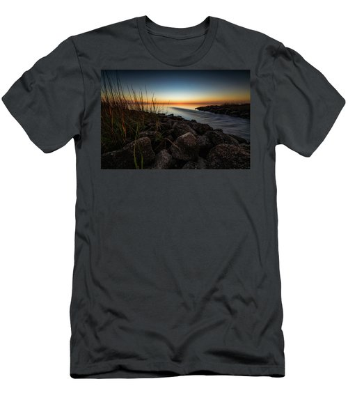 Men's T-Shirt (Slim Fit) featuring the photograph Slow Motion Runoff by Allen Biedrzycki