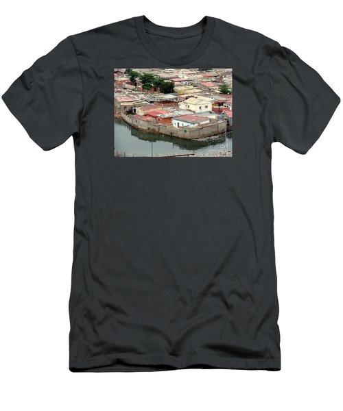 Slum In Luanda, Angola Men's T-Shirt (Slim Fit) by John Potts