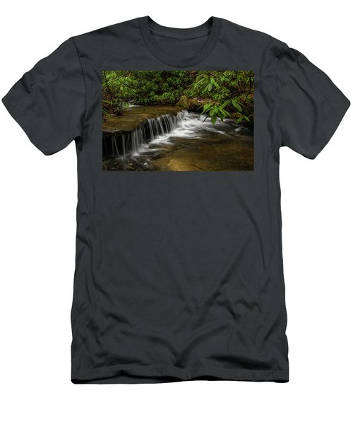 Small Cascade On Pounder Branch. Men's T-Shirt (Slim Fit)