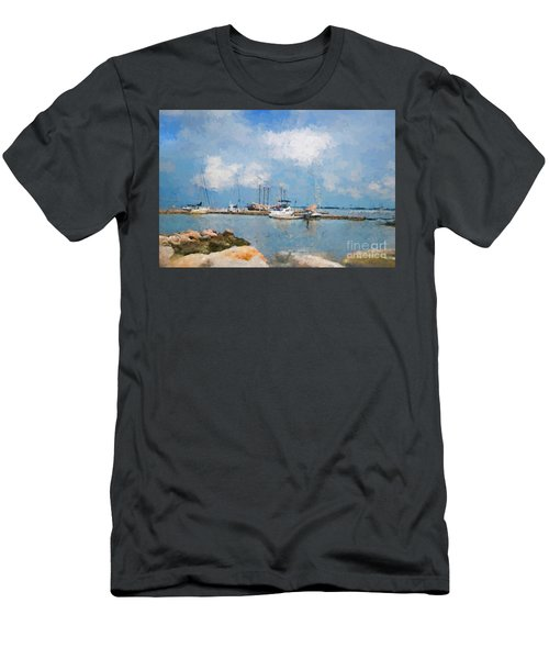 Small Dock With Boats Men's T-Shirt (Athletic Fit)