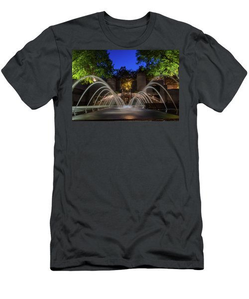 Small Fountain Men's T-Shirt (Athletic Fit)