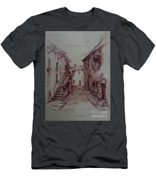 Small Town Drawing Men's T-Shirt (Athletic Fit)