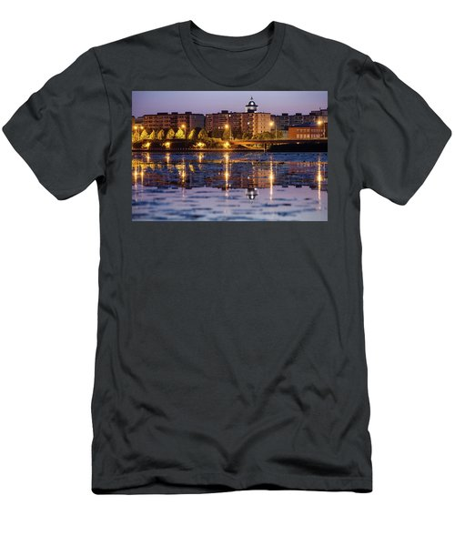 Small Town Skyline Men's T-Shirt (Athletic Fit)