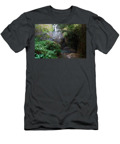 Men's T-Shirt (Slim Fit) featuring the photograph Small Waterfall by Ricardo J Ruiz de Porras