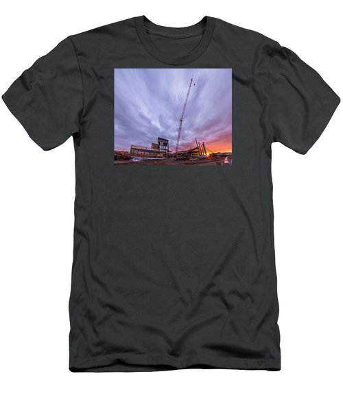 Smart Financial Centre Construction Sunset Sugar Land Texas 10 26 2015 Men's T-Shirt (Athletic Fit)