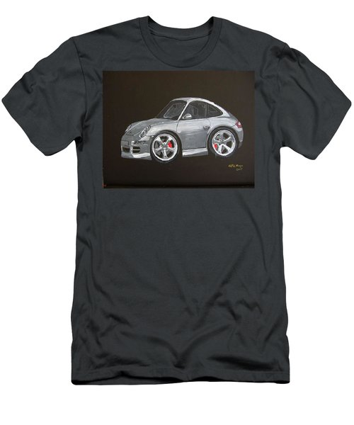 Men's T-Shirt (Athletic Fit) featuring the painting Smart Porsche by Richard Le Page