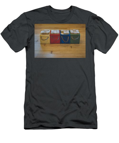 Smiling Block Bins Men's T-Shirt (Athletic Fit)