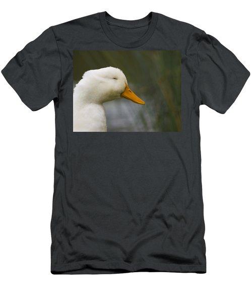 Smiling Pekin Duck Men's T-Shirt (Athletic Fit)