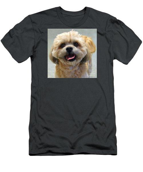 Smiling Shih Tzu Dog Men's T-Shirt (Slim Fit) by Catherine Sherman