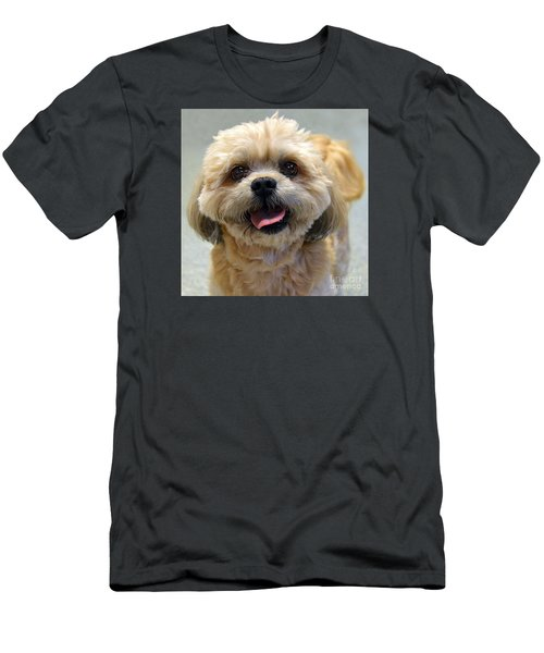 Smiling Shih Tzu Dog Men's T-Shirt (Athletic Fit)