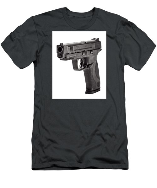 Men's T-Shirt (Slim Fit) featuring the photograph Smith And Wesson Handgun by Andy Crawford