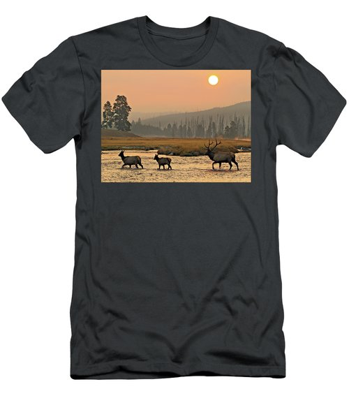 Smokey Elk Crossing Men's T-Shirt (Athletic Fit)