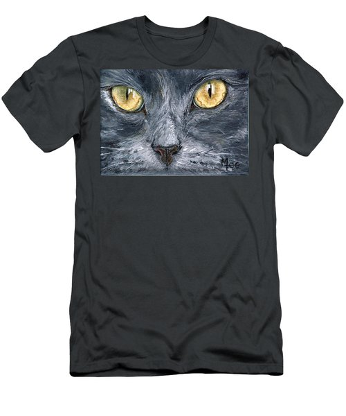 Men's T-Shirt (Slim Fit) featuring the painting Smokey by Mary-Lee Sanders
