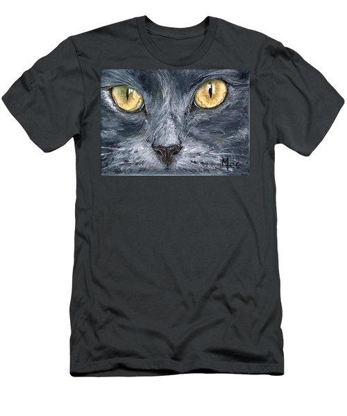 Smokey Men's T-Shirt (Slim Fit) by Mary-Lee Sanders