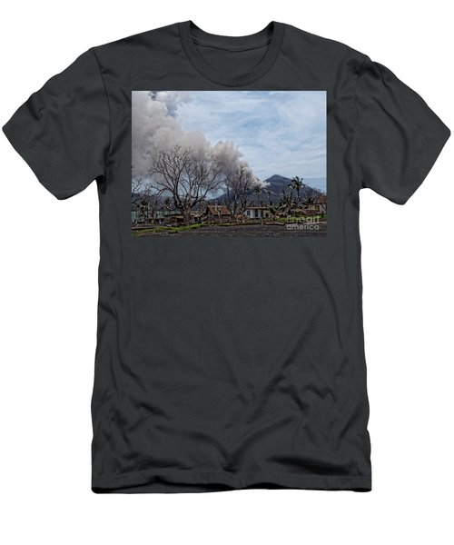 Men's T-Shirt (Slim Fit) featuring the photograph Smoking Volcano by Trena Mara