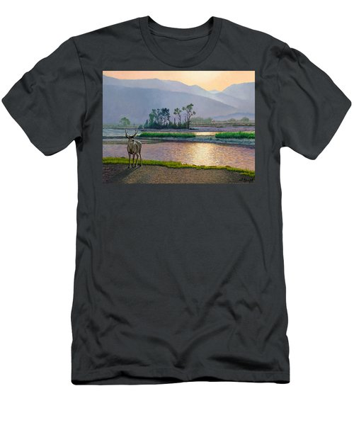 Smoky Morning Glitter Men's T-Shirt (Slim Fit) by Paul Krapf