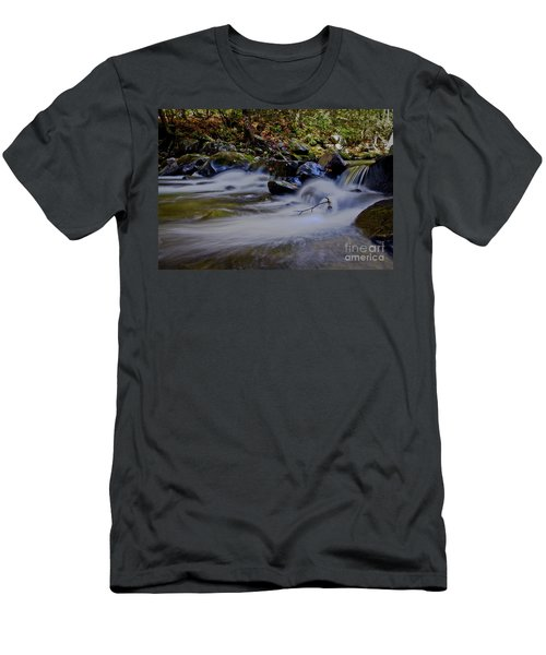 Men's T-Shirt (Slim Fit) featuring the photograph Smoky Mountain Stream by Douglas Stucky