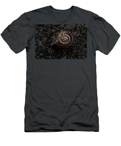 Men's T-Shirt (Slim Fit) featuring the photograph Snail by Jay Stockhaus