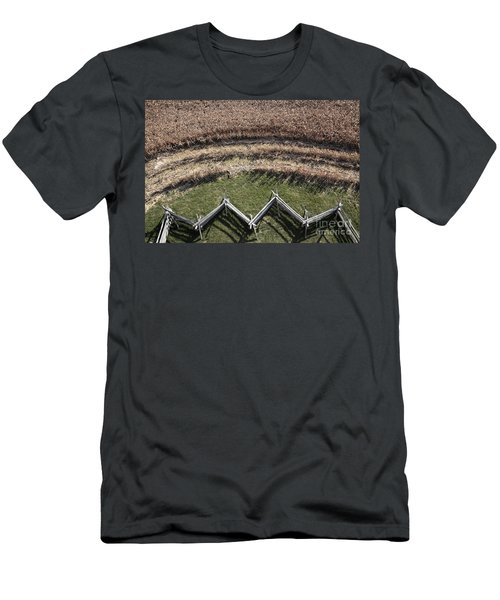 Snake-rail Fence And Cornfield Men's T-Shirt (Athletic Fit)