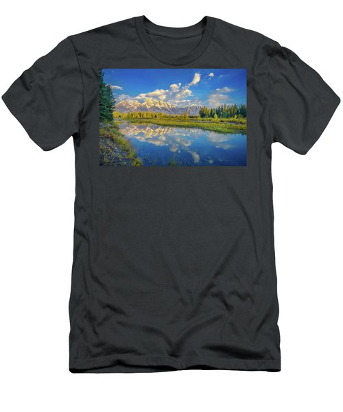 Snake River Reflection Grand Teton Men's T-Shirt (Athletic Fit)