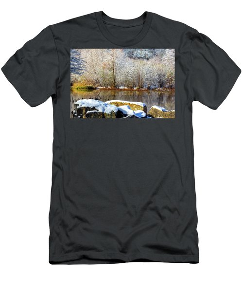 Snow Across The Lake Men's T-Shirt (Athletic Fit)