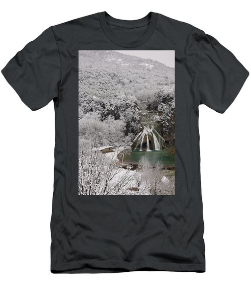 Snow And Turner Falls 2 Men's T-Shirt (Athletic Fit)