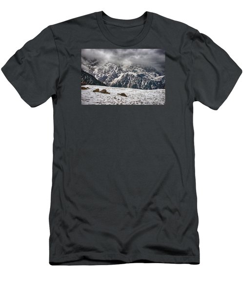 Men's T-Shirt (Athletic Fit) featuring the photograph Snow Capped Triund Hill by Yew Kwang